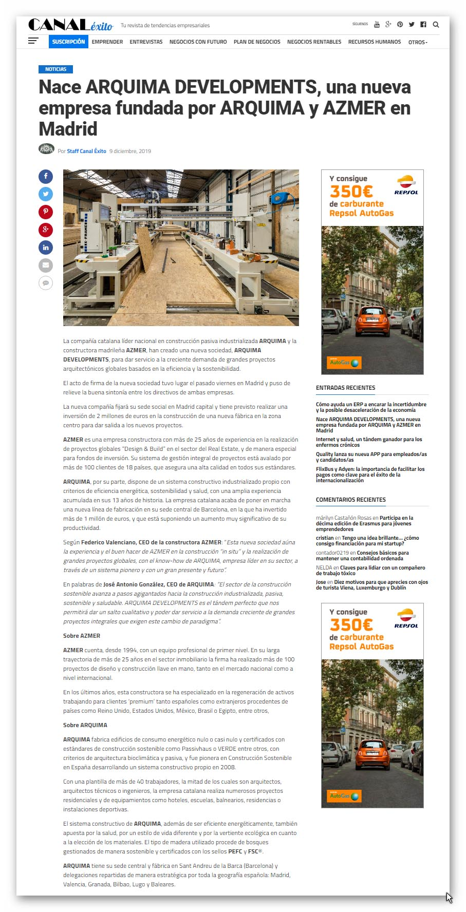 canalexito.es - Arquima developments