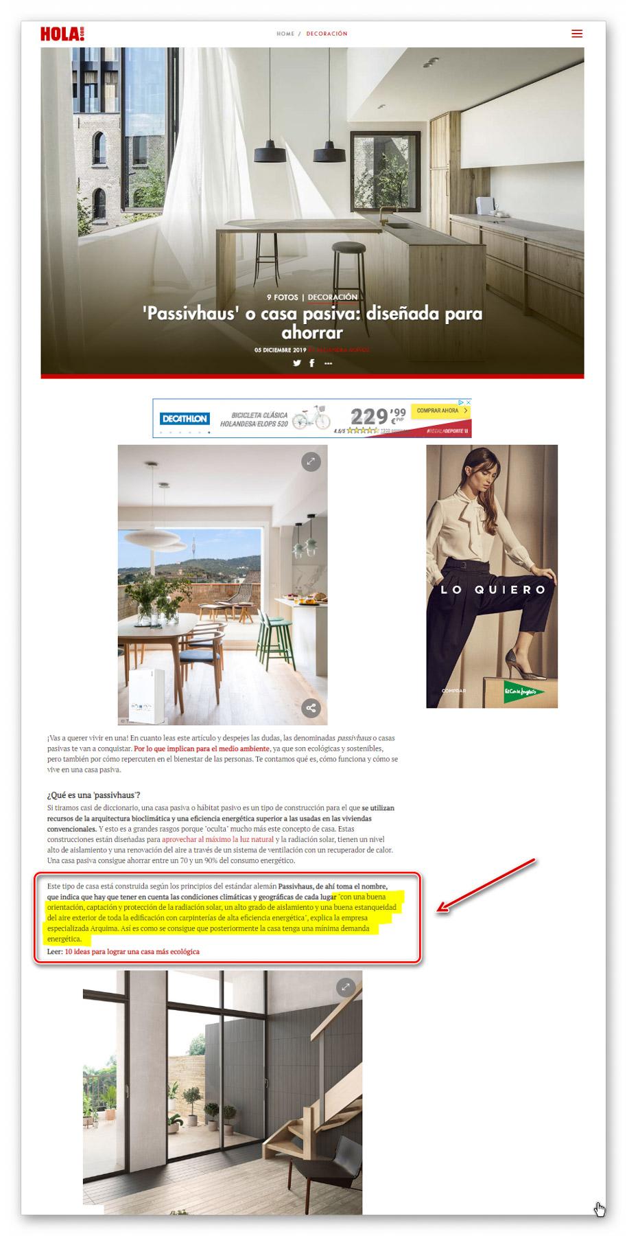 Revista Hola - Arquima